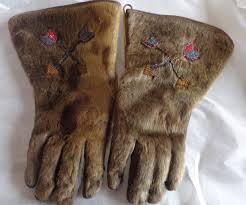 native or inuit gauntlets gloves antiques board