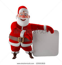 Funny Animated Christmas Decorations by Cheerful 3d Model Santa Claus Happy Stock Illustration 220329334
