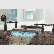 kokols rubbed bronze waterfall bath tub shower faucet set