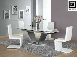 Extendable Glass Dining Table Chair Exciting Chair Very Practical Expandable Glass Dining Table