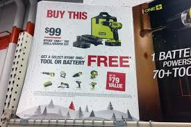 ryobi toll set home depot black friday bogo ryobi power tools at home depot the krazy coupon lady