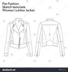 illustration fashion flat template sketch woman stock illustration