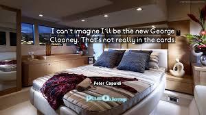 i can u0027t imagine i u0027ll be the new george clooney that u0027s not really