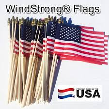 Miniature Flags Amazon Com Lot Of 50 4x6 Inch Us American Hand Held Stick Flags
