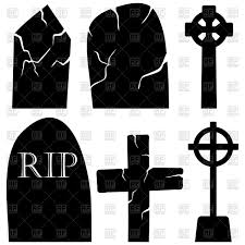 halloween logo black background halloween headstone set vector image 110231 u2013 rfclipart