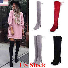 womens stretch boots size 11 s knee boots ebay