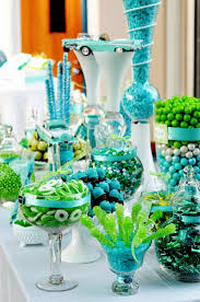 a turquoise and lime green wedding wedding decoration read