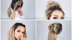Quick Easy Hairstyles For Girls by Quick And Easy Hairstyles Youtube