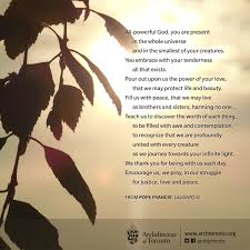a prayer of thanksgiving to god laudato si u0027