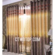 Yellow Brown Curtains Shabby Chic Casual Yellow And Dark Brown Short Bedroom Curtains