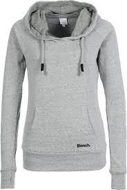 Bench Ladies Bench Ladies Basic Zip Through Hoodie Grey Rock Star District