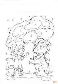 cloudy day coloring pages