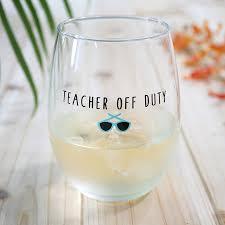 duty stemless wine glass gift bored teachers