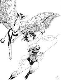 wonder woman and hawkgirl by furuarrow on deviantart