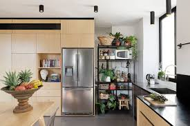 Open Kitchen Storage Unboxing Space Duplex Apartment Merges Diverse Eras And Styles