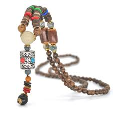 handmade statement necklace images Yumfeel handmade nepal jewelry buddhist mala wood beads pendant jpg