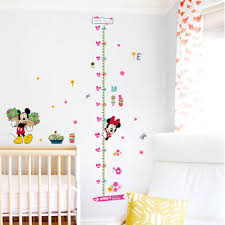 popular wall stickers for buy cheap lots from minnie mickey growth chart height measure wall stickers for kids room decor cartoon mural art