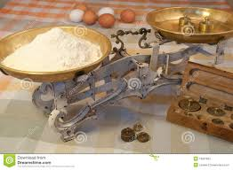 vintage kitchen scales with eggs royalty free stock image image