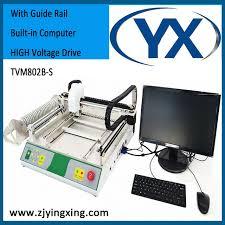 bureau avec ordinateur intégré de bureau utilisé machine smt smd composants avec guide rail intégré