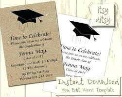 commencement announcements grad invite templates size of graduation invitation insert