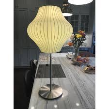 george nelson bubble lotus pear table lamp w nickel aptdeco
