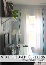 Chevron Design Curtains Stripe Edged Curtains Using Chevron Fabric The Homes I Have Made