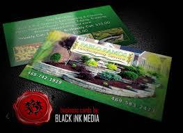 Landscape Business Cards Design Security Service Business Cards Black Ink Media