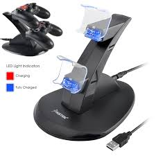 insten dual usb charger dock station stand for sony playstation 4
