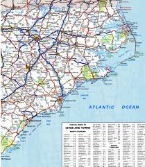 North Carolina Map North Carolina Road Map With Cities Afputra Com