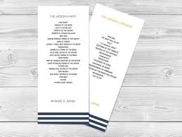 print wedding programs wedding program template navy stripes tea length printable