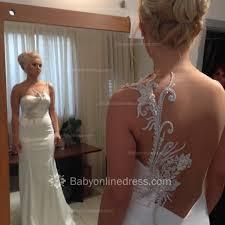 one shoulder appliques bridal gowns mermaid open back 2017 wedding