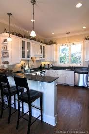 Dark Shaker Kitchen Cabinets White Kitchen Cabinets Wood Floors U2013 Colorviewfinder Co