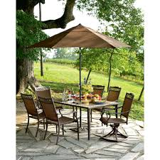 Outdoor Patio Dining Sets With Umbrella - country living brookshire umbrella