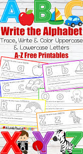 tracing paper for writing practice letter writing practice free printables learning to write the alphabet a z free printables kids can review letters and phonics