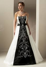 black and white wedding dress black and white bridesmaid dresses achor weddings