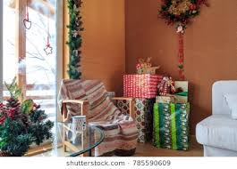 home and interior gifts decorated home interior gifts cottage stock photo royalty free