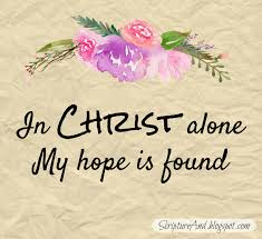 scripture and in christ alone