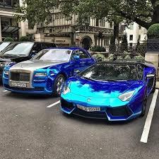 chrome blue lamborghini aventador blue chrome lamborghini aventador rolls royce ghost credit