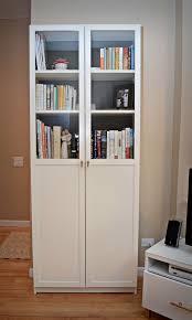 interesting idea bookshelf with door ikea black white and other