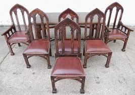 Gothic Dining Room Furniture Style Mahogany Dining Room Set Sold