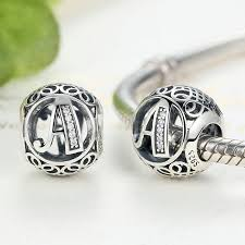 silver jewelry charm bracelet images Authentic 925 sterling silver vintage a to t letter charms fit jpg