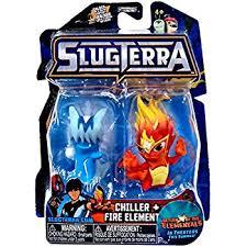 amazon slugterra chiller fire elemental mini figures