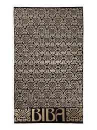 biba home furniture house of fraser biba logo beach towel in black