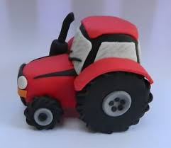 tractor cake topper edible large 3d vehicle tractor cake decoration topper farmer farm