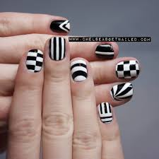 25 cool nail designs with black and white crosses black nails
