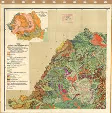 Map Of Romania Harta Pedologica A Republicii Socialiste Romania 1 Soil Map Of