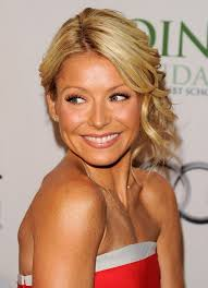 kelly ripper hair style now loose updo lively blonde side swept glamour kelly ripa s