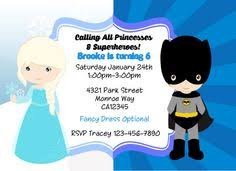 superhero and princess birthday invitation if only annie and
