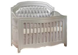 Cheap Convertible Crib Convertible Crib W Silver Tufted Panel By Natart Furniture