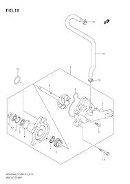 2012 suzuki burgman 650 abs an650a water pump parts best oem